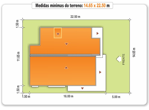 Medidas do terreno - sobrado caxias - cod.200