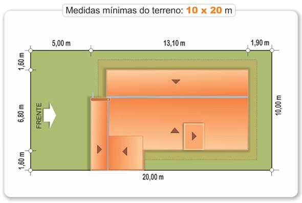 Planta de medidas do terreno - Cod. 100