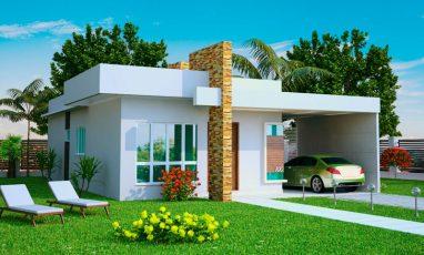 Projeto de Casa com 1 suíte e 2 quartos