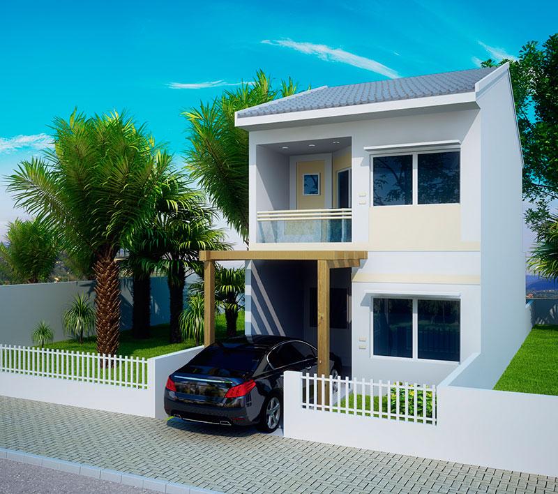 Planta de sobrado caxias 1 su te e 2 quartos plantas de for Casas modernas de 70m2