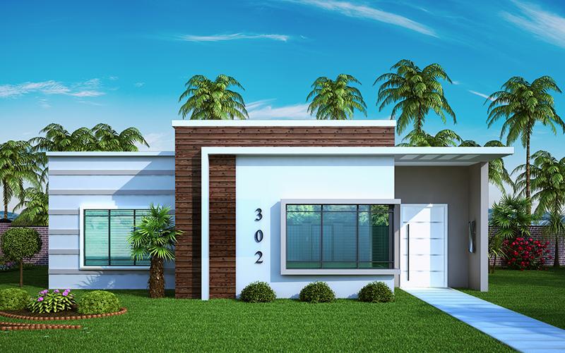 Planta de casa recife 2 quartos de solteiro e 1 quarto de for Fachada de casa moderna de una planta