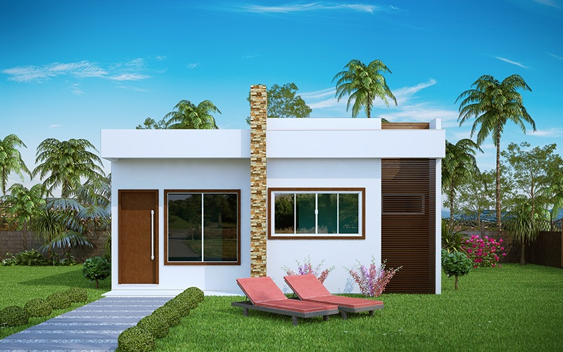 Casa aracaju 3 quartos com suite plantas de casas for Casas modernas pequenas de una planta