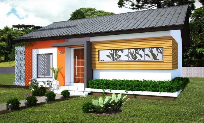 3b3c637f74fde 17 Plantas de casas pequenas e modernas com fotos de fachadas