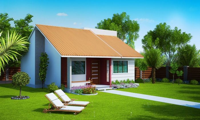 Planta de Casa pequena com 2 quartos