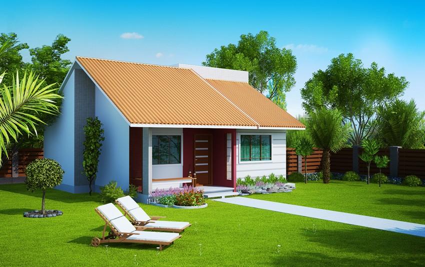 Planta de casa londrina casa pequena com 2 quartos for Modelos jardines para casas pequenas
