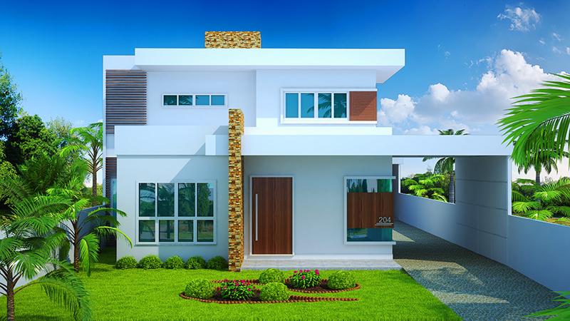Sobrado brasilia com 3 quartos edicula piscina e garagem for Casa moderna 2 andares 3 quartos