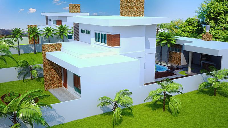 Sobrado brasilia com 3 quartos edicula piscina e garagem for Plantas para piscinas