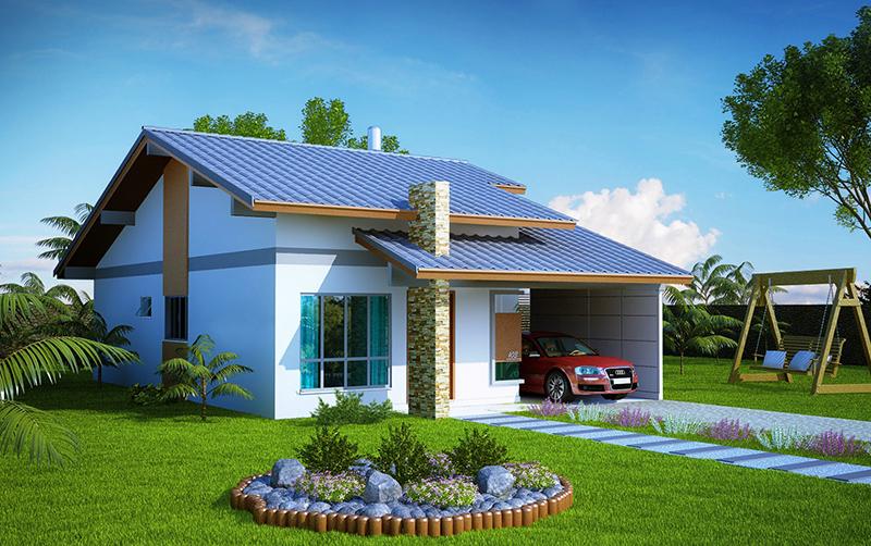 Plantas de casas modernas e pequenas plantas de casas for Modelos jardines para casas pequenas