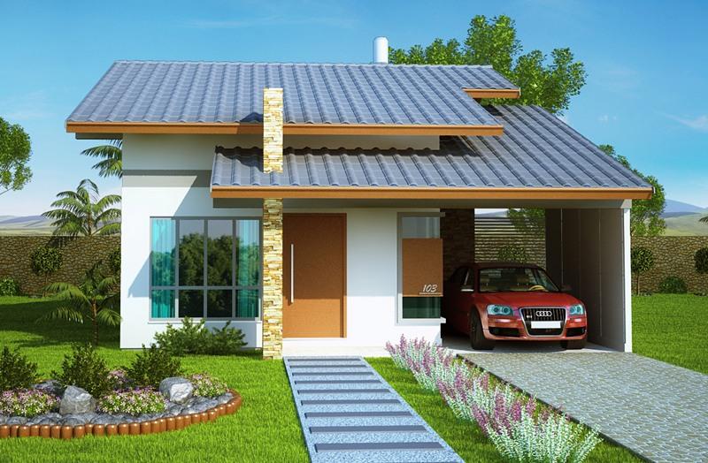 Casa belem com 2 quartos suite closet e banheira for Casa minimalista 120m2