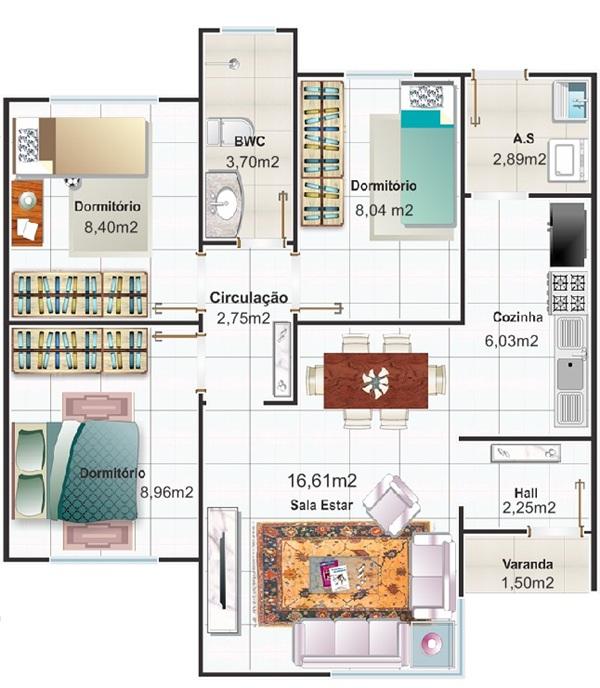 plantas de casas modernas e pequenas 2