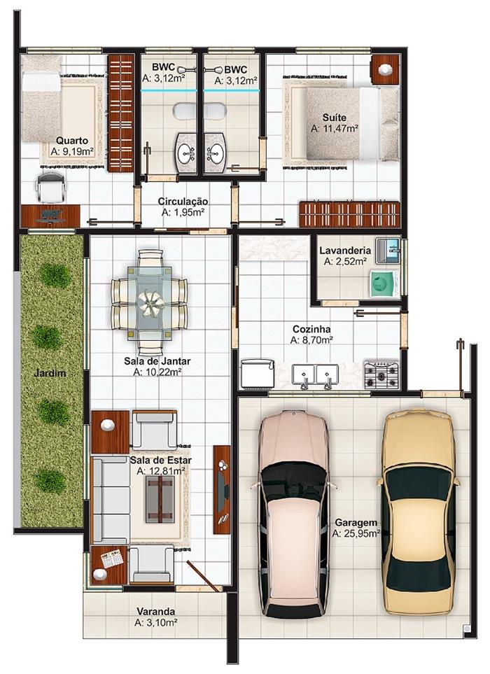 Casa sao luis com 2 quartos sendo 1 suite e 2 vagas de for Casa moderna 90m2