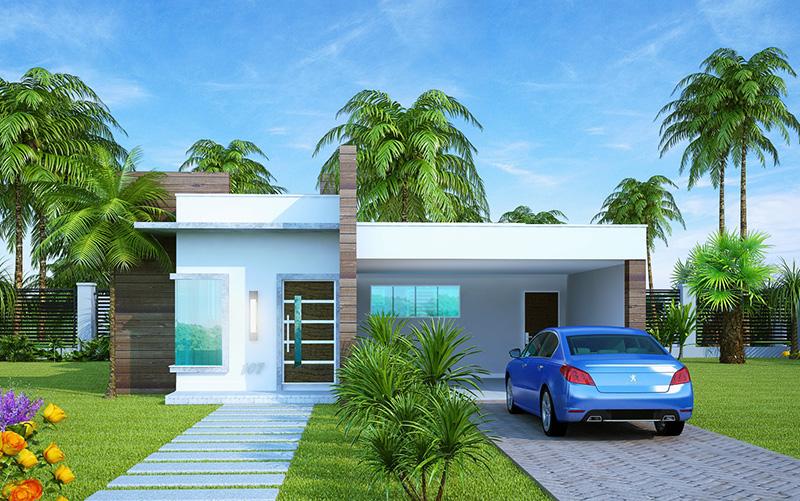Casa sao luis com 2 quartos sendo 1 suite e 2 vagas de garagem plantas de casas for Casas modernas para construir