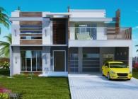 205 -Plantas de casas - fachadas sobrados -  frontal