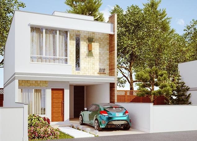 casa nova iguacu sobrado com 3 quartos suite e 1 vaga On casas construidas en terrenos pequeños