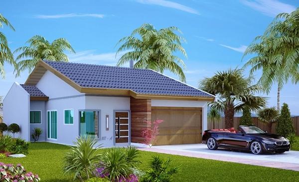 Casa cuiaba com 2 quartos 2 vagas de garagem para terreno 10x20 metros plantas de casas for Modelos jardines para casas pequenas