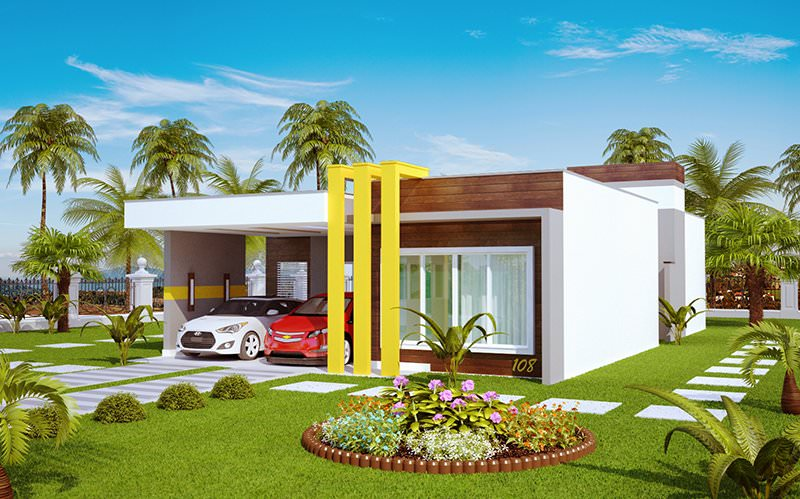 Casa teresina linda casa terrea com 3 quartos for Plantas de casas tipo 3 modernas