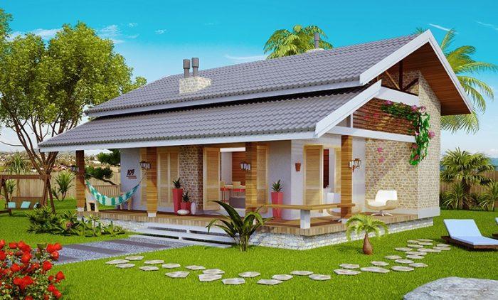 Projeto de loft para praia ou campo