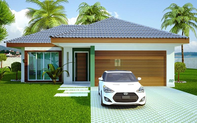 Casa campo grande muito lazer e conforto na praia ou for Fachadas modernas para casas pequenas de una planta
