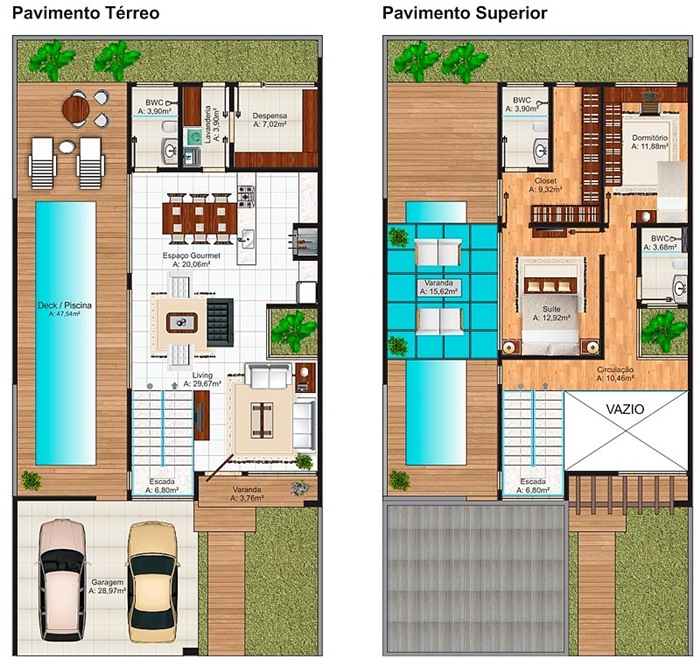 Casa florianopolis lindo sobrado com 2 quartos suite for Plantas de casas modernas con piscina