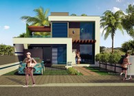 208 - Projetos de casas - fachada - Florianopolis