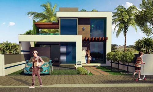 Plantas de casas com rea entre 201m e 300m for Casa moderna revit