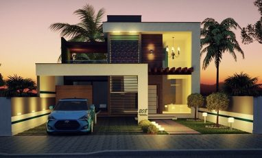208-fachadas-de-casas-plantas-de-casas-noite