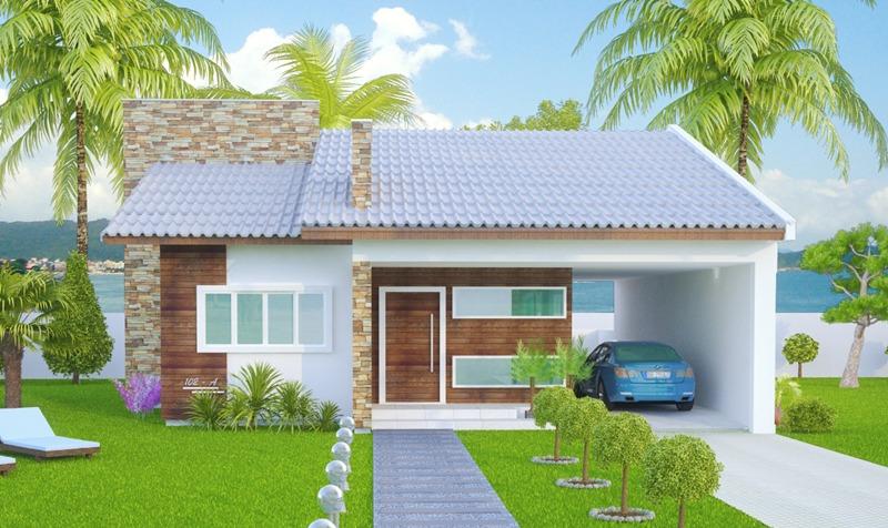 Casa sao goncalo mostra a simplicidade com muito charme plantas de casas - Fachada de casas ...