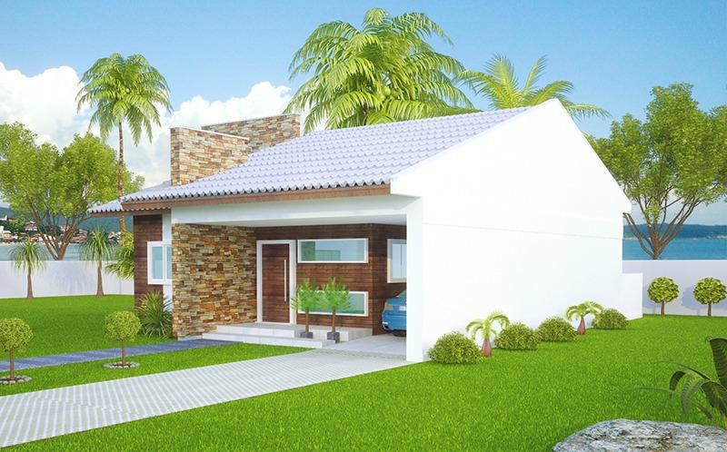 Casa sao goncalo mostra a simplicidade com muito for Tipos de cielorrasos para casas