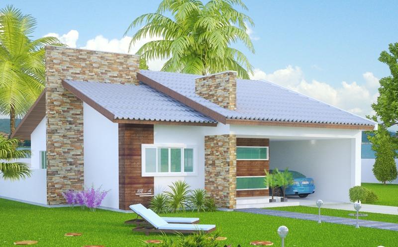 Casa sao goncalo mostra a simplicidade com muito for Modelos de casas de una planta modernas