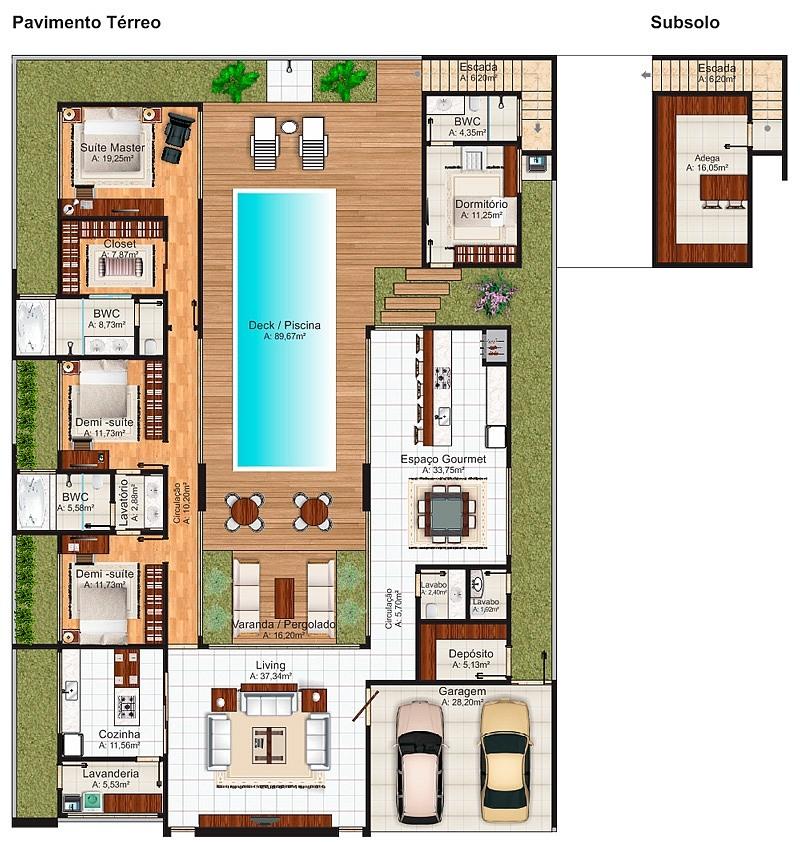 Casa uberlandia 4 quartos com suite master piscina e for Plantas arquitectonicas de casas