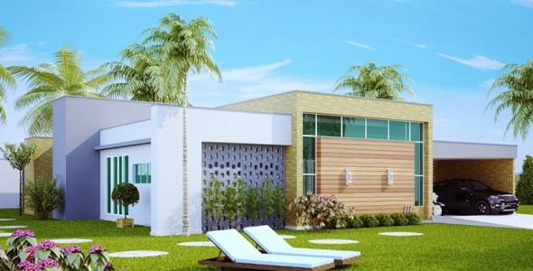 111 - modelos de casas - fachada uberlandia - esq