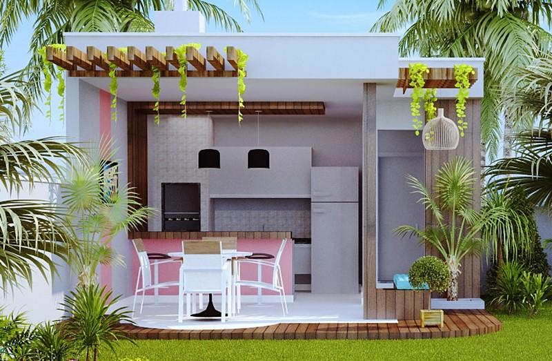 Projeto de edicula area gourmet embeleza os fundos do lote for Parrillas para casas modernas
