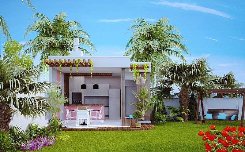 Projetos de Casas Modernas  Barbara Borges Projetos 3D