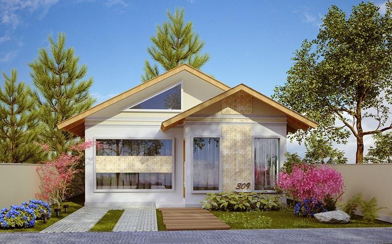Casa santo andre pequena com 3 quartos e suite for Plantas para casa