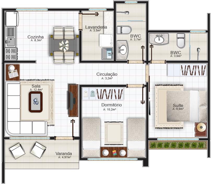 casa ribeirao preto com 2 quartos e area de 70m2