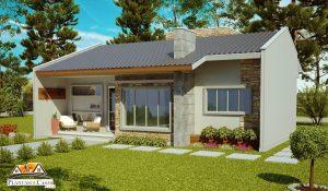 Projeto de casa com 70 m²
