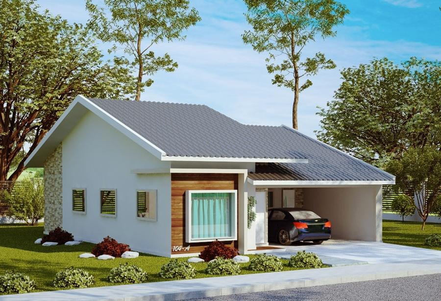 Planta de casa s o bernardo 1 su te 2 quartos e 2 vagas for Modelos de fachadas para casas