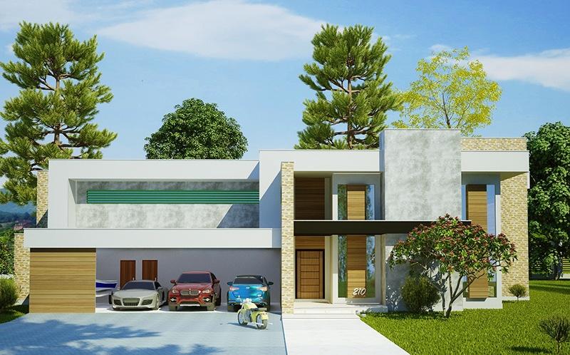 Casa luanda projeto moderno com 5 suites e 4 vagas de for Casas chicas pero bonitas