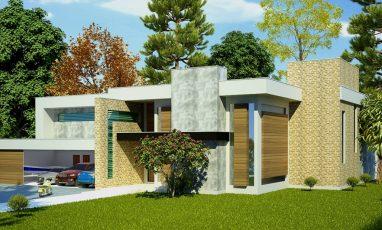 Projeto de casa com piscina e 4 quartos
