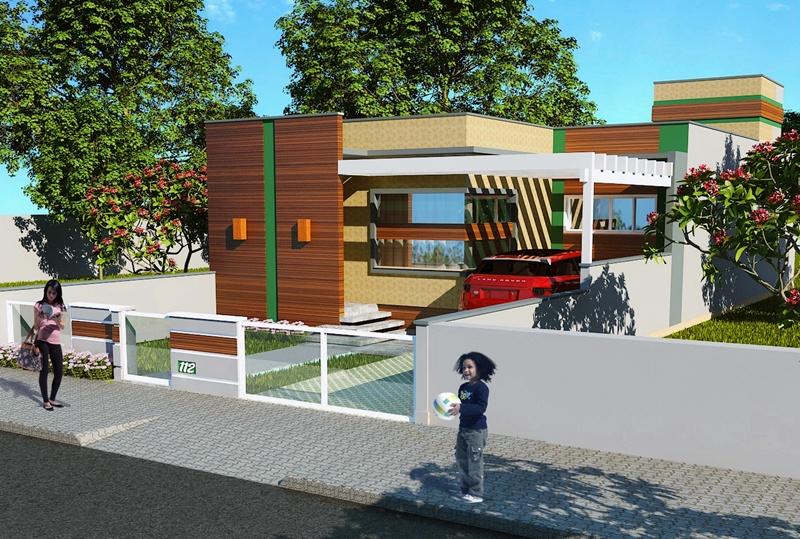 Planta de casa juiz de fora projeto com 3 quartos para for Modelo de casa x dentro