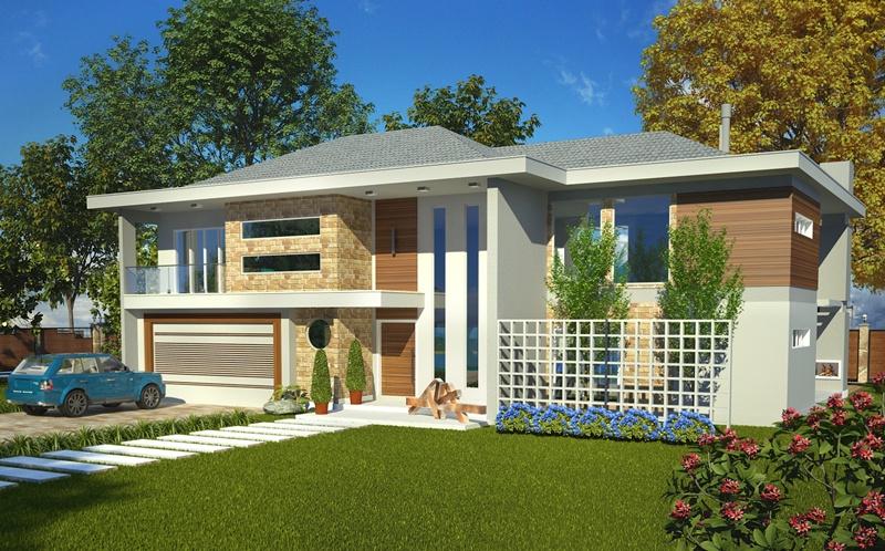 Sobrado olinda casa moderna com 4 quartos sendo 2 for Casas modernas pequenas de dos plantas