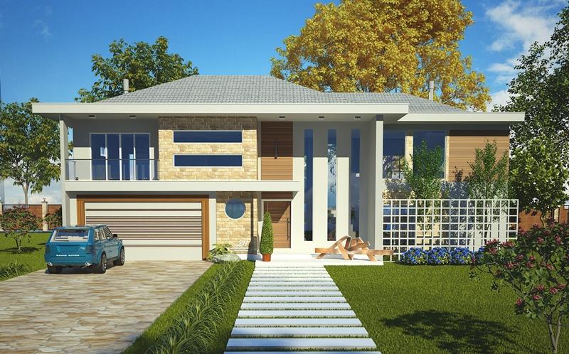 Sobrado olinda casa moderna com 4 quartos sendo 2 for Casas modernas plantas