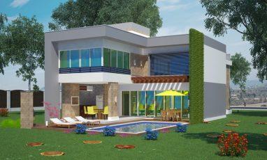 Fundos de sobrado com piscina e 2 garagens