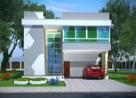 Plantas de casas - Alphaville - frente