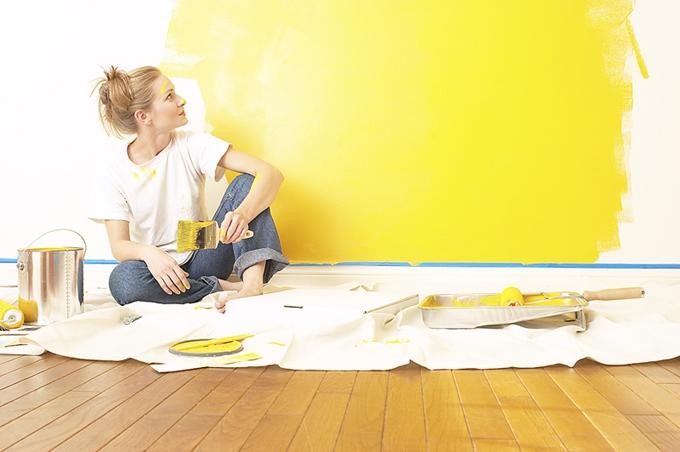 pintura de paredes internas da casa