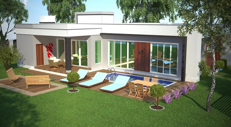 Casa osasco com 3 suites closet varanda e piscina for Plantas para piscinas