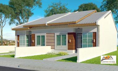 Modelo de casa para terreno estreito
