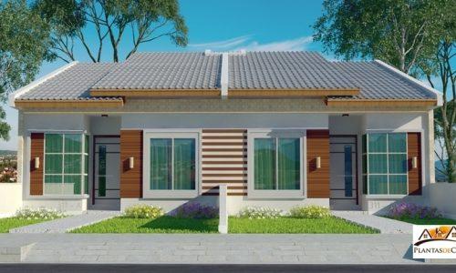 cd planta de casa para terreno estreito r