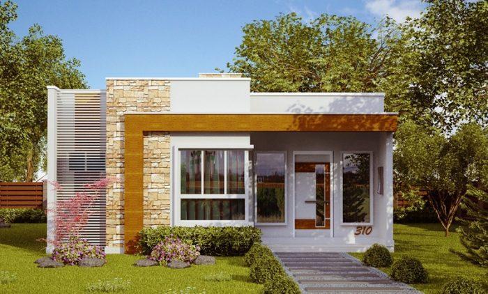 Casa pequena e moderna com 2 quartos e 1 suíte