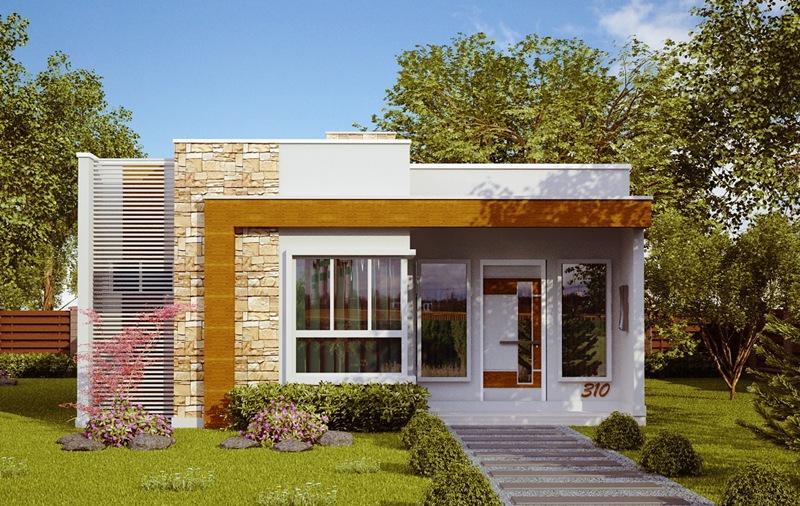 Planta de casa natal casa pequena e moderna com 2 quartos for Casas pequenas modernas